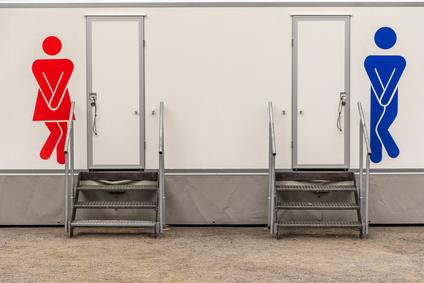 ffentlicher Toilette, Herren und Damen WC